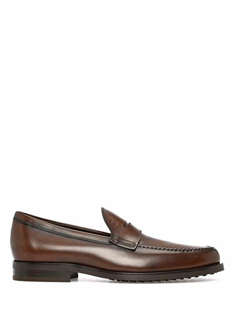 Tod's Deri Loafer Ayakkabı Kahve